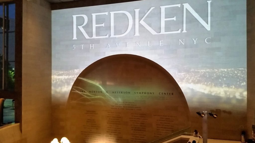 Projection Mapping Redken Display