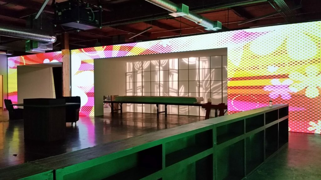 Projection mapping on uneven walls is possible! This is by Showtech Productions in Dallas, TX.