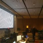 Audio visual control center for Dallas event