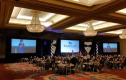 Check out our audio visual setup for this nonprofit banquet!