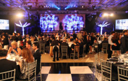 We provided lighting services for this large event.