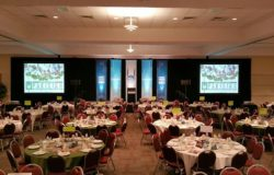 See our lighting and sound setup for this banquet.