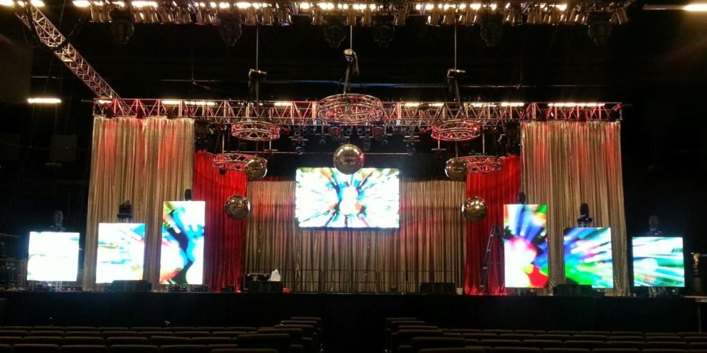 Event video screen design and video mapping